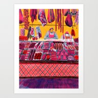 Art Print featuring Meat Counter  by Mouni Feddag