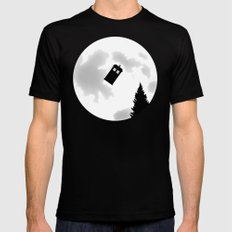 Dr Phone Home SMALL Mens Fitted Tee Black