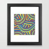 Happy Roads Framed Art Print