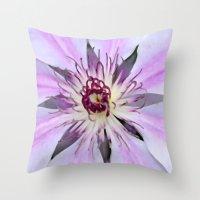 Desert Flower Throw Pillow