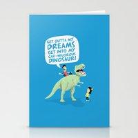 My Car-nivorous Dinosaur Stationery Cards