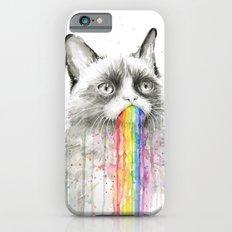 Grumpy Rainbow Cat Watercolor iPhone 6 Slim Case