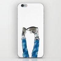 Reverse_white bg iPhone & iPod Skin