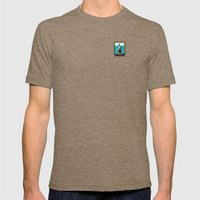 Portrait of a Perky Pelican Mens Fitted Tee Tri-Coffee SMALL