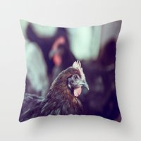 The Brood Throw Pillow
