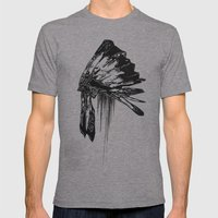 Native Living Mens Fitted Tee Athletic Grey SMALL
