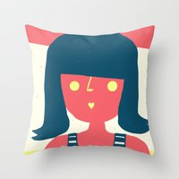 Self-portrait Waiting for Summer Throw Pillow