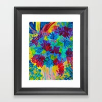 TUTTI FRUTTI - Fruit Punch Floral Bouquet Flowers Bright Bold Colorful Painting Romantic Rainbow Framed Art Print