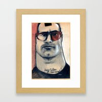 henry rollins is clark kent... Framed Art Print