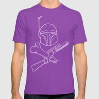 Fett And Crossbones Mens Fitted Tee Ultraviolet SMALL