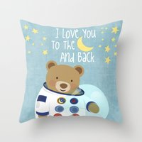 I Love You To The Moon A… Throw Pillow