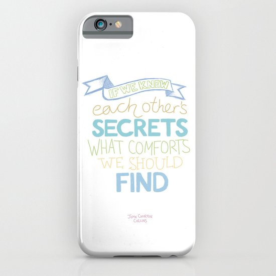 Each other's secrets iPhone & iPod Case