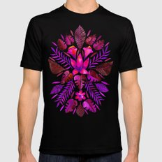Tropical Symmetry – Magenta Mens Fitted Tee Black SMALL