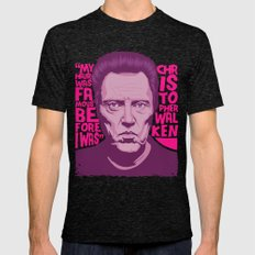 Christopher Walken Mens Fitted Tee Tri-Black SMALL