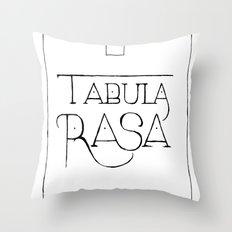 Tabula Rasa Throw Pillow