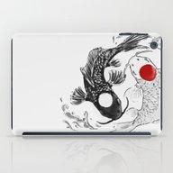 Koi Fish Ying Yang iPad Case
