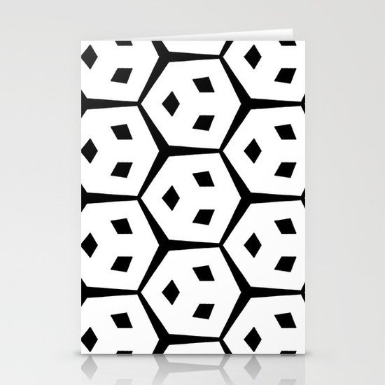 Van Trijp Black & White Pattern Stationery Card