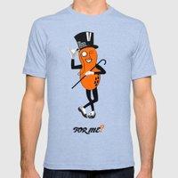 An Orange Peanut Mens Fitted Tee Tri-Blue SMALL