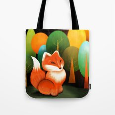 Fox In The Forest Tote Bag