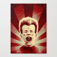 Red Noise Canvas Print