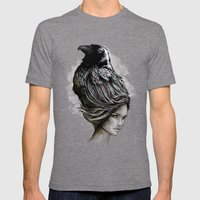 Raven Haired Mens Fitted Tee Tri-Grey SMALL