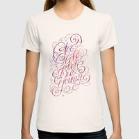 Too Old To Die Young Womens Fitted Tee Natural SMALL