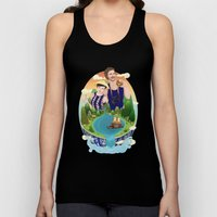 Couple Custom Illustrati… Unisex Tank Top