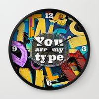 You Are My Type! Wall Clock