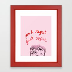 No Regrets Framed Art Print