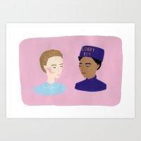 Agatha & Zero - Grand Bu… Art Print
