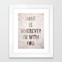 HOME (Ohio) Framed Art Print