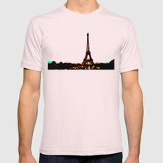 paris. Mens Fitted Tee Light Pink SMALL