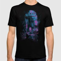 R2D2 Mens Fitted Tee Black SMALL