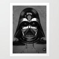 Vader Vinyl Art Print