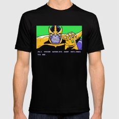 All Your Worlds Are Belong To Me SMALL Black Mens Fitted Tee