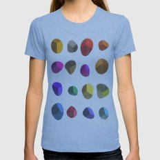 Painted Pebbles 2 Womens Fitted Tee Athletic Blue SMALL