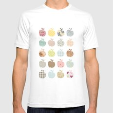 apples galore SMALL Mens Fitted Tee White
