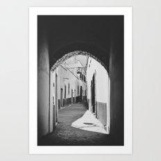 Callejon in Zacatecas Art Print