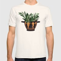 Ancient Greek 2 Mens Fitted Tee Natural SMALL
