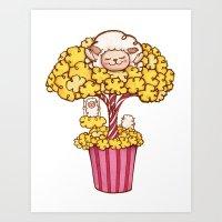 Popcorn Tree Art Print
