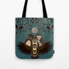 Owls in the Sky Tote Bag