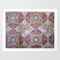 Geometric Wall Pattern Art Print