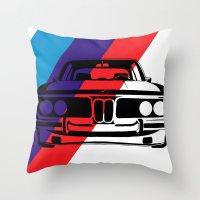 BMW E9 Throw Pillow