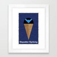 Neapolitan Nightwing Framed Art Print