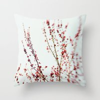 Red Blossom 2 Throw Pillow