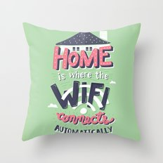 Home Wifi Throw Pillow