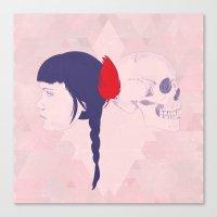 Skull+face Canvas Print