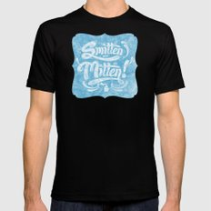 Smitten with the Mitten (Blue Version) Mens Fitted Tee Black SMALL