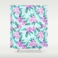 Tahitian Garden {D} Shower Curtain