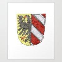 Nuremberger Heraldry Watercolor Art Print